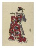 Yokobue, Seven Hole Chinese Flute Lámina giclée por  Toyokuni