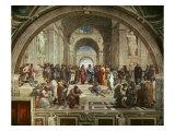 L'école d'Athènes Reproduction procédé giclée par  Raphael