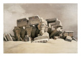 Ruins of the Temple of Kom-Ombo, Upper Egypt Giclée-tryk af David Roberts
