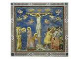Korsfæstelse Giclée-tryk af  Giotto di Bondone