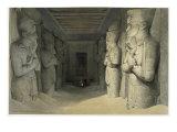 Interior of the Great Temple of Abu Simbel, Nubia Giclée-tryk af David Roberts