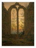 A Dreamer Giclée-tryk af Caspar David Friedrich