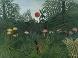 Foret Vierge au Soleil Couchant Giclee-trykk av Henri Rousseau