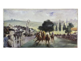 Races at Longchamp Giclee Print by Edouard Manet