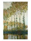 Peupliers sur les rives de l'Epte Reproduction procédé giclée par Claude Monet