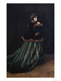Camille, the Woman in Green Giclée-Druck von Claude Monet