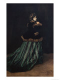 Camille, the Woman in Green Giclee Print by Claude Monet