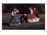 The Croquet Game Giclee-trykk av Winslow Homer