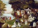 The Peaceable Kingdom Giclée-tryk af Edward Hicks