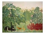 The Waterfall, 1910 Giclee-trykk av Henri Rousseau