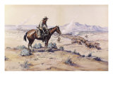 The Trail Boss Giclée-tryk af Charles Marion Russell