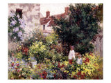 Dans le jardin Reproduction procédé giclée par Camille Pissarro