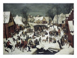 Barnemordet i Betlehem Giclee-trykk av Pieter Bruegel the Elder