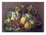 Summer Fruit Lámina giclée por Currier & Ives,