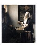 Woman Weighing Gold Giclée-Druck von Johannes Vermeer