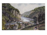 Harper's Ferry (From the Potomac Side) Giclee-trykk av Currier & Ives,