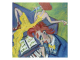 Two Red Heads and a Piano Giclee Print by Gina Bernardini