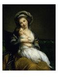 Portrait of the Artist with Her Daughter Giclée-Druck von Elisabeth Louise Vigee-LeBrun