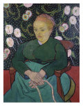 Woman Rocking a Cradle Giclee Print by Vincent van Gogh