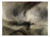 Snestorm, dampbåd ved en havnemunding Giclée-tryk af J. M. W. Turner