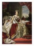 Queen Victoria of England in Her Coronation Robes Reproduction procédé giclée par Franz Xaver Winterhalter