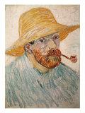 Self-Portrait with Pipe and Straw Hat, c.1888 Impressão giclée por Vincent van Gogh