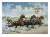 Pacing for a Grand Purse Giclee-trykk av Currier & Ives,