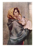 De fattigas Madonna Gicléetryck av Roberto Ferruzzi