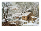 Home in the Wilderness Giclee-trykk av Currier & Ives,