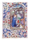 Nativity, the Book of Hours Giclée-tryk