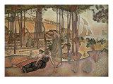 Evening Breeze Giclee Print by Henri Edmond Cross