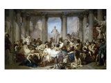Les Romains de la Decadence Giclee Print by Thomas Couture