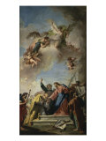 Christ Giving the Keys of Paradise to St. Peter Giclée-tryk af Giovanni Battista Pittoni