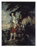 Charles I, King of England, at the Hunt Giclée-Druck von Sir Anthony Van Dyck