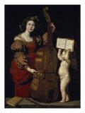 Saint Cecilia Giclée-tryk af  Domenichino