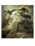The Shadows of the French Warriors Led by Victory Giclée-tryk af Anne-Louis Girodet de Roussy-Trioson