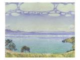 Leman Lake Seen from Chexbre Giclee Print by Ferdinand Hodler
