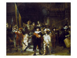 The Night Watch Giclée-tryk af  Rembrandt van Rijn