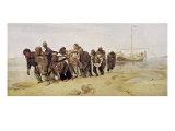Volga Bargemen Giclee Print by Ilya Efimovich Repin