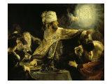 El festín de Baltasar Lámina giclée por  Rembrandt van Rijn