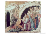 Descent to Hell (Panel from the Maesta) Giclée-tryk af  Duccio di Buoninsegna