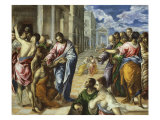 The Miracle of Christ Healing the Blind Lámina giclée por  El Greco