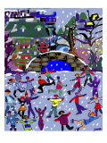 Ice Skaters II Giclee Print by Diana Ong