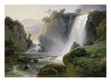 Cascade de Tivoli Giclee Print by Jean Charles Joseph Rémond