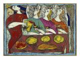 The Hospitality of Abraham Giclee-trykk av Leslie Xuereb