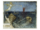 Second Angel with the Trumpet and the Agitation of the Sea from Apocalypse Giclée-tryk af Giusto De' Menabuoi