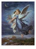 The Guardian Angel Giclée-tryk af Wilhelm Von Kaulbach