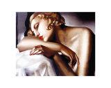Nukkuja (The Sleeper) Taide tekijänä Tamara de Lempicka