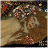 Vattenormar II, ca 1907 (detalj) Affischer av Gustav Klimt