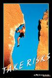 Take Risks, Extreme Sport Poster